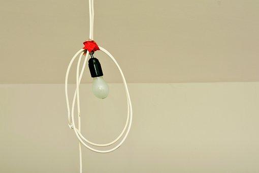 Renovation, Renovate, Light Bulb, Lamp, Painter Working