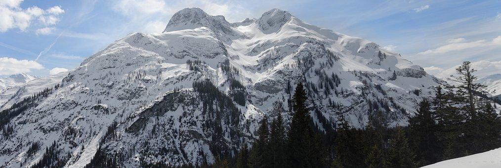 Snow, Panorama, Mountain, Nature, Panoramic Image