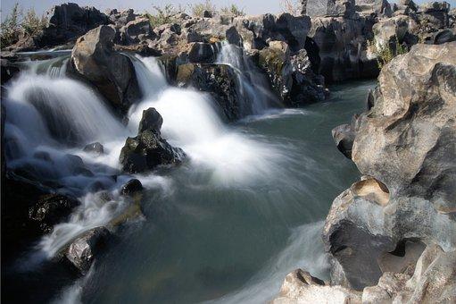 Body Of Water, Nature, Cascade, Roche, River, Mali
