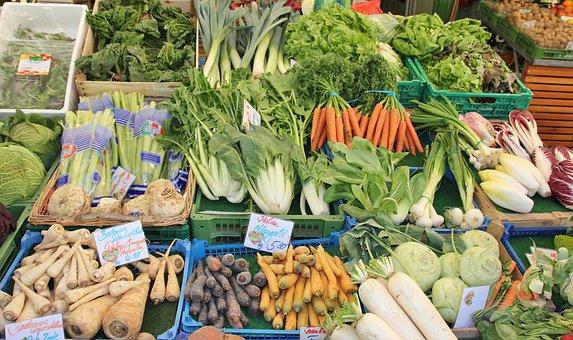 Market, Final Sale, Food, Vegetables, Variation, Sell