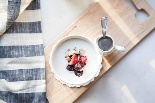 Yoghurt, Milk, Floating Eat, Dessert, Snack, Delicious