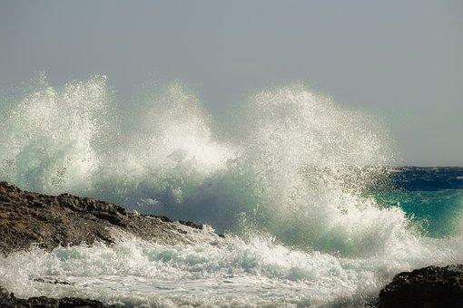 Water, Wave, Surf, Sea, Spray, Foam, Nature, Ocean