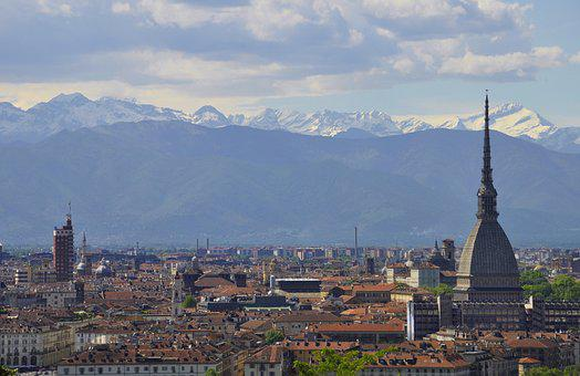 Torino, Panoramic, Big City, Architecture, Travel
