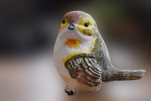 Figure, Bird, Tit, Decoration, Funny, Garden, Painted