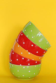 Tableware, The Bowl, Plate, Speckled, Peas, Bright