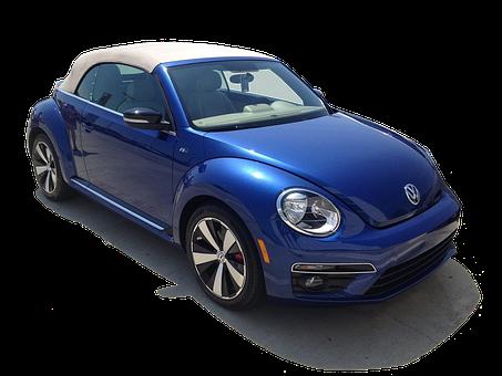 Volkswagen Beetle, Cabriolet, Volkswagen, Car, Blue