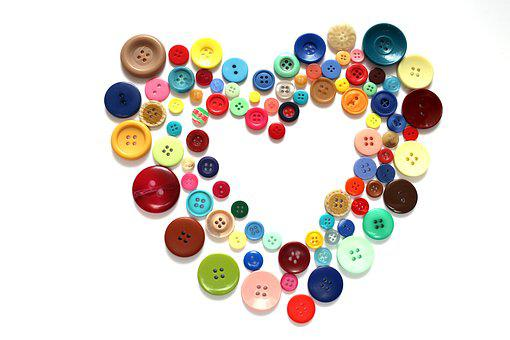 Button, Heart, Tinkering, Hobby, Sewing, Color