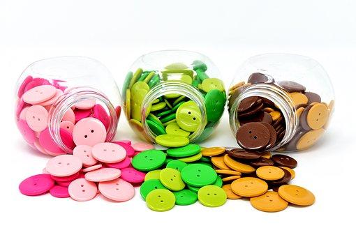 Buttons, Colorful, Color, Handarbeiten, Button, Close
