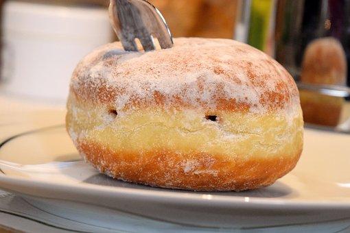 Berlin, Donut, Pancake, Food, Dessert, Cake, Delicious