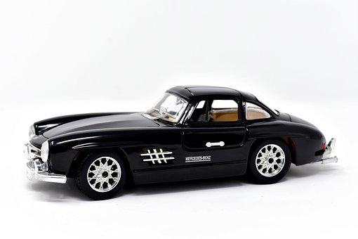 Model Car, Oldtimer, Mercedes, 300sl, Gullwing