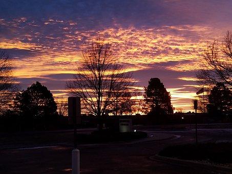 Sunset, Dawn, Dusk, Horizontal Plane, Nature, Landscape
