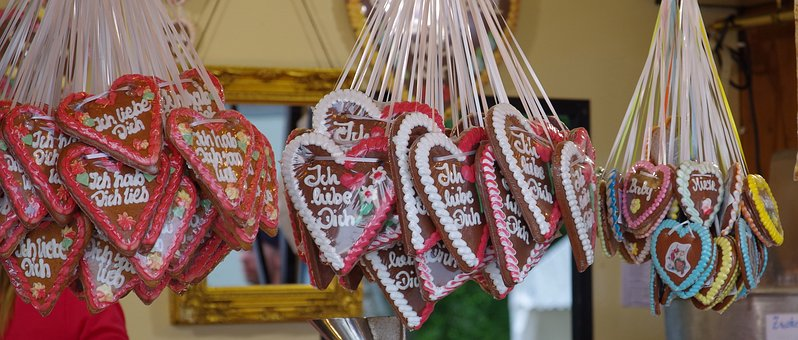 Gingerbread, Heart, Love, Culture, Nuremberg, Frosting