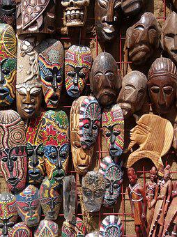 Market, Masks, Decoration, Naive Art, Art, Spirituality