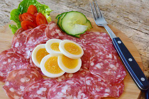 Salami, Sausage, Smoked, Meat, Food, Gourmet, Meal