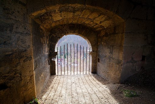 Architecture, Arch, Gothic, Wall, Old, Tunnel, Palace