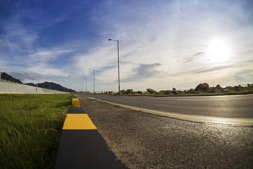 Nature, Road, A Bird's Eye View, Sky, Lawn, Asphalt