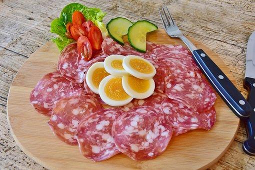 Salami, Sausage, Meat, Food, Gourmet, Meal, Dinner, Fat