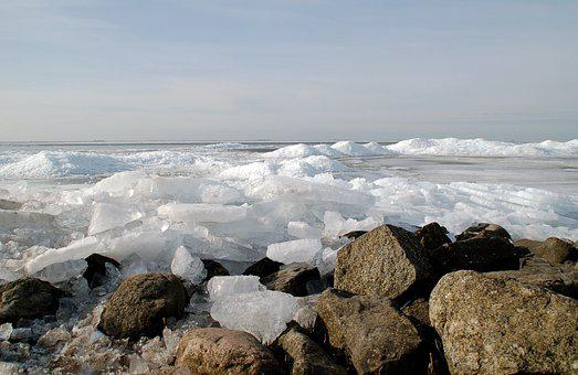 Nature, Ice Floes, Urk, Ijsselmeer, Shelf Ice, Frost