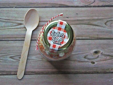 Soup, Glass, Pot, Spoon, Wood, Food, Rustic, Gift