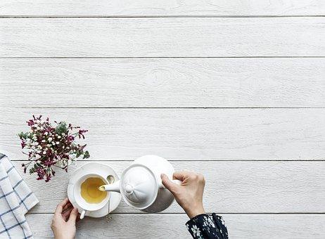 Table, Desktop, Aerial, Afternoon, Afternoon Tea