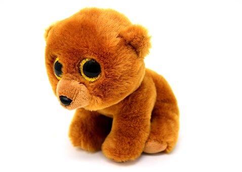 Teddy Bear, Glitter Eyes, Stuffed Animal, Soft Toy