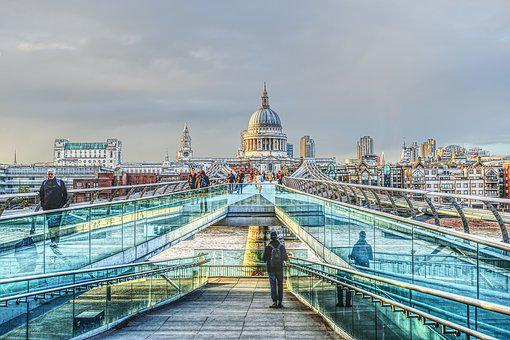 Travel, Architecture, Bridge, City, Waters, London