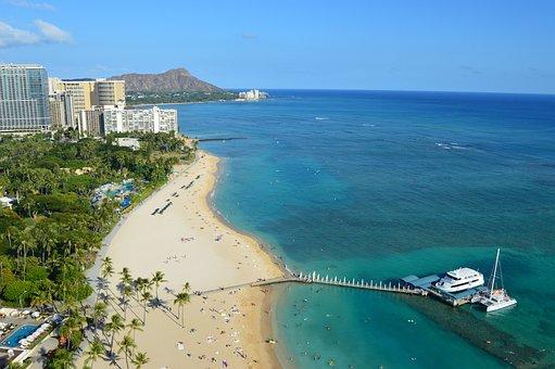 Sea, Seashore, Beach, Water, Travel, Hawaii, Honolulu