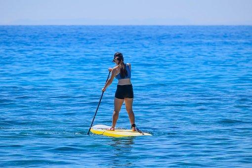 Paddleboarding, Water, Sea, Recreation, Vacation