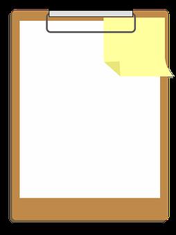 Clipart, Clipboard, Design, Paper, Icon, Note, White