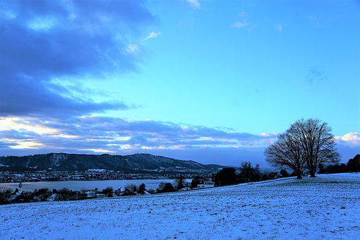 Nature, Panorama, Landscape, Snow, Sky, Winter, Waters