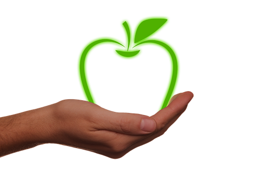 Hand, Keep, Apple, Abstract, Energy, Environment