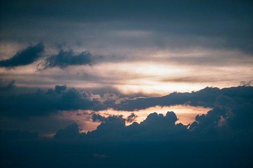 Background, Beam, Beautiful, Blue, Bright, Cloud