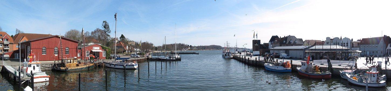 Waters, Panorama, Boot, River, Panoramic Image, Sky