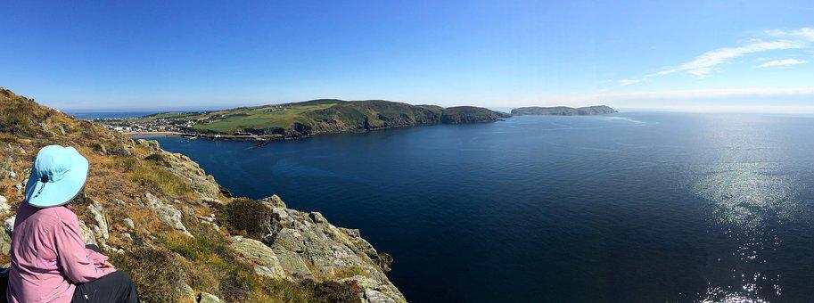 Port Erin, Calf Of Man, Isle Of Man, Cliffs, Ocean