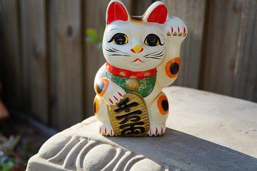 Toy, Fun, Maneki Neko, Japanese, Beckoning Cat, Cat