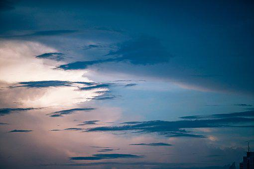 Blue, Buildings, City, Cirrus, Clouds, Dawn, Landscape