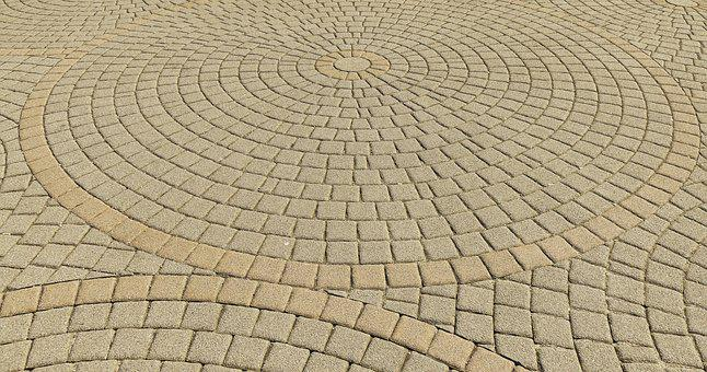 Patch, Paving Stones, Circle, Round, Composite Stones