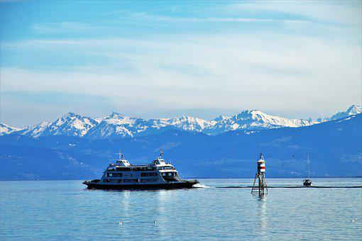 Cruise, Ferry, Water, Bodensee, Snow