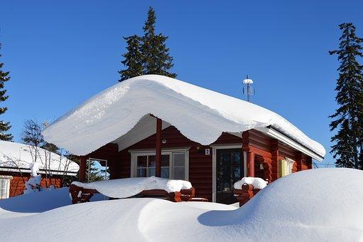 Snow, Winter, Cottage, Maja, Finnish