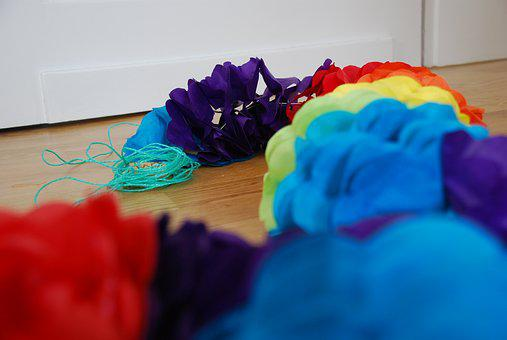 Garland, Colorful, Paper, Celebration, Ground