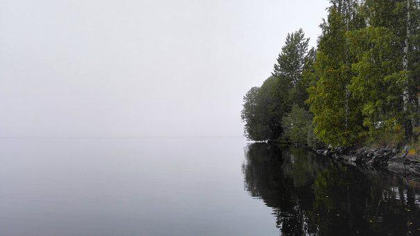 Lake, Reflection, Mist, Nature, Water, Fog, Outdoors