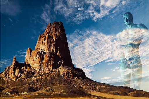Panoramic, Mountain, Landscape, Rock, Giant, Colossus