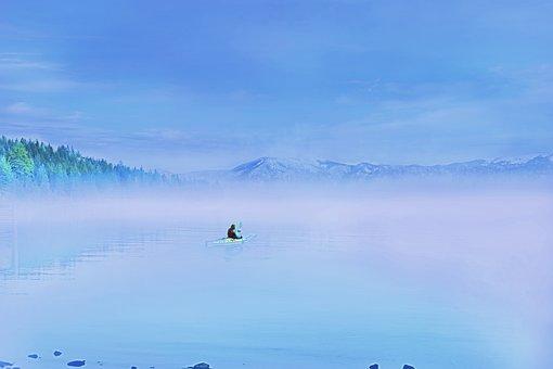 Sky, Nature, Outdoor, Landscape, Blue Sky, Fog, Water