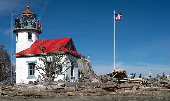 Sky, Travel, Lighthouse, Point Robinson, Maury Island