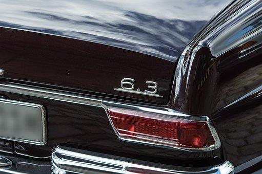 Auto, Mercedes, Oldtimer, Chrome, Back Light