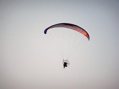 Parachute, Flight, Sky, Fly, Glider, Paragliding