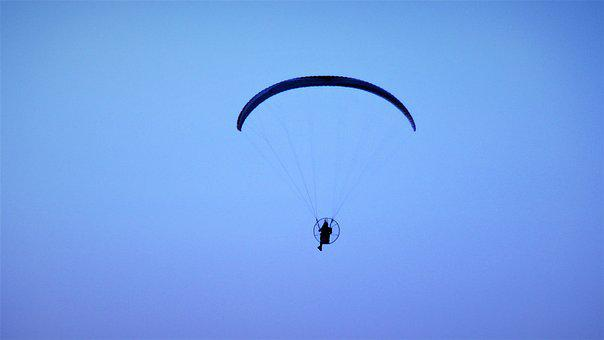 Sky, Flight, Parachute, Outdoors, Fly, Wind