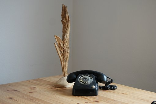 Wood, Table, Retro, Phone, Wooden Table, Old