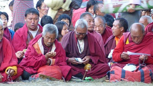Monk, Religion, Prayer, Buddha, Human, Bhutan, Asia