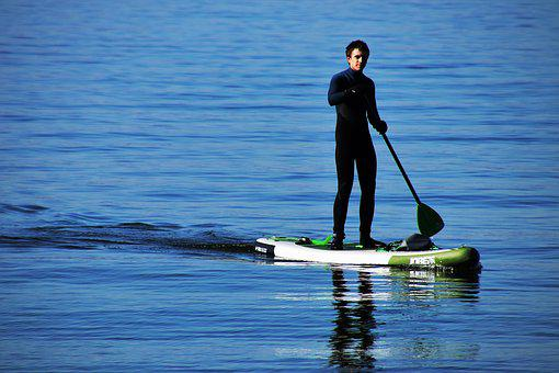 Sup, Relaxation, Sport, Blue, A Person, Bodensee, Water